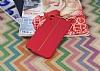 HTC Desire 820 Kadife Dokulu Kırmızı Silikon Kılıf - Resim 1