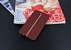 HTC One A9 Kadife Dokulu Bordo Silikon Kılıf - Resim 1