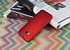HTC One M8 Mat Kırmızı Silikon Kılıf - Resim 2