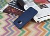 HTC One M9 Deri Desenli Ultra İnce Lacivert Silikon Kılıf - Resim 2