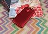 HTC One M9 Plus Mat Kırmızı Silikon Kılıf - Resim 1
