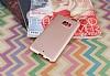 HTC U Ultra Mat Rose Gold Silikon Kılıf - Resim 1