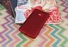 HTC U Ultra Mat Kırmızı Silikon Kılıf - Resim 1