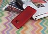 HTC U Ultra Mat Kırmızı Silikon Kılıf - Resim 2