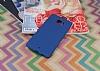 HTC U Ultra Tam Kenar Koruma Lacivert Rubber Kılıf - Resim 1