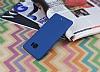 HTC U Ultra Tam Kenar Koruma Lacivert Rubber Kılıf - Resim 2