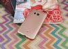 HTC U11 Mat Rose Gold Silikon Kılıf - Resim 1