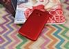 HTC U11 Mat Kırmızı Silikon Kılıf - Resim 1