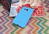 HTC U11 Mat Mavi Silikon Kılıf - Resim 1