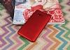 HTC U11 Tam Kenar Koruma Kırmızı Rubber Kılıf - Resim 1