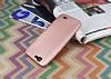 Huawei Ascend G7 Mat Rose Gold Silikon Kılıf - Resim 2