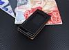 Huawei Ascend G7 Vantuzlu Pencereli Siyah Deri Kılıf - Resim 1
