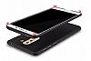 Huawei GR5 2017 Tam Kenar Koruma Kırmızı Rubber Kılıf - Resim 1