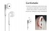 Huawei Honor AM115 Orjinal Mikrofonlu Beyaz Kulakiçi Kulaklık - Resim 2