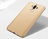Huawei Mate 9 Tam Kenar Koruma Gold Rubber Kılıf - Resim 5
