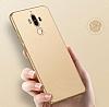 Huawei Mate 9 Tam Kenar Koruma Gold Rubber Kılıf - Resim 1