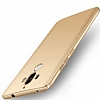 Huawei Mate 9 Tam Kenar Koruma Gold Rubber Kılıf - Resim 4