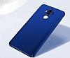 Huawei Mate 9 Tam Kenar Koruma Lacivert Rubber Kılıf - Resim 5