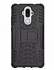 Huawei Mate 9 Ultra Süper Koruma Standlı Siyah Kılıf - Resim 2