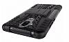 Huawei Mate 9 Ultra Süper Koruma Standlı Siyah Kılıf - Resim 4