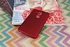 Huawei Nova Plus Mat Kırmızı Silikon Kılıf - Resim 1