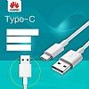 Huawei Orjinal USB Type-C Beyaz Data Kablosu 1m - Resim 1