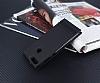 Huawei P Smart Gizli Mıknatıslı Yan Kapaklı Siyah Deri Kılıf - Resim 1