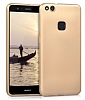 Huawei P10 Lite Mat Gold Silikon Kılıf - Resim 2