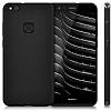 Huawei P10 Lite Mat Siyah Silikon Kılıf - Resim 1
