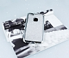 Huawei P10 Lite Taşlı Kenarlı Simli Silver Silikon Kılıf - Resim 2