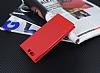Huawei P10 Plus Gizli Mıknatıslı Pencereli Kırmızı Deri Kılıf - Resim 2
