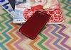 Huawei P10 Plus Noktalı Mat Kırmızı Silikon Kılıf - Resim 1
