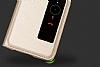 Huawei P10 Plus Pencereli İnce Kapaklı Siyah Kılıf - Resim 3