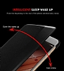 Huawei P10 Plus Pencereli İnce Yan Kapaklı Siyah Kılıf - Resim 3