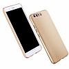 Huawei P10 Plus Tam Kenar Koruma Gold Rubber Kılıf - Resim 5