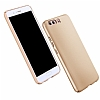 Huawei P10 Tam Kenar Koruma Gold Rubber Kılıf - Resim 5