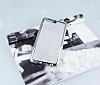 Huawei P10 Taşlı Kenarlı Simli Silver Silikon Kılıf - Resim 2