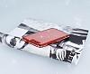 Huawei P10 Taşlı Kenarlı Simli Kırmızı Silikon Kılıf - Resim 1