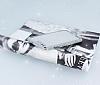 Huawei P10 Taşlı Kenarlı Simli Silver Silikon Kılıf - Resim 1