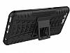 Huawei P10 Ultra Süper Koruma Standlı Siyah Kılıf - Resim 1