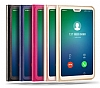 Huawei P20 Lite Dokunmatik Sensörlü Full Pencereli Lacivert Kılıf - Resim 2