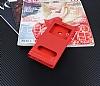 Huawei P20 Lite Gizli Mıknatıslı Pencereli Kırmızı Deri Kılıf - Resim 2