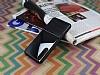 Huawei P20 Pro Silikon Kenarlı Aynalı Metal Siyah Kılıf - Resim 2