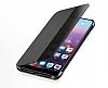 Huawei P20 Pro Uyku Modlu İnce Yan Kapaklı Siyah Kılıf - Resim 2