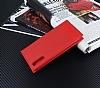 Huawei P20 Gizli Mıknatıslı Yan Kapaklı Kırmızı Deri Kılıf - Resim 2