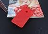 Huawei P8 Lite Ultra İnce Karbon Kırmızı Kılıf - Resim 2