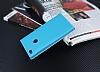 Huawei P9 Lite 2017 Gizli Mıknatıslı Çift Çerçeveli Mavi Deri Kılıf - Resim 2