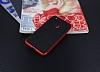 Eiroo Carbon Hybrid Huawei P9 Lite 2017 Kırmızı Kenarlı Karbon Siyah Silikon Kılıf - Resim 2