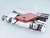 Huawei P9 Lite 2017 Taşlı Kenarlı Simli Kırmızı Silikon Kılıf - Resim 2