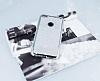 Huawei P9 Lite 2017 Taşlı Kenarlı Simli Silver Silikon Kılıf - Resim 2